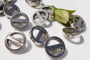 """Silver Vintage Shank Fashion Buttons 1"""" inch (12 pcs)"""