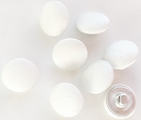 Snow White Satin Covered Wedding Bridal Buttons (10 pcs)