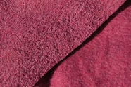 Soft Terry Fleece Fabric Wine Mix Grey # UU-717