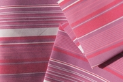 Quality Soft Stretch Dress Shirting Designer Purple Pink Striped Fabric # UU-177