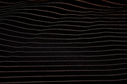 Super Quality Black Knit Taupe Gold Pinstripe Fabric # K-208