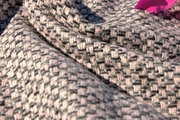 Textured Ivory Pink Gray Black Novelty Jacketing Designer Wool Coating Fabric WL-212