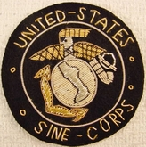 United States Sine Corps Vintage Bullion Crest Patches
