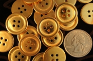 "Vintage 4 Hole Metallic Gold Buttons 3/4"" inch (10 pcs)"
