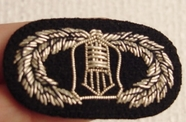 Vintage Embroidered Silver Wire Bullion Crest Patches