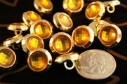 "Vintage Gem Look Metallic Gold Shank Buttons 5/8"" inch (12 pcs)"