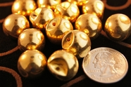 """Vintage Metallic Gold Dome Buttons 5/8"""" inch (10 pcs)"""
