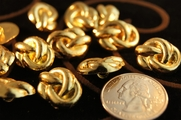 "Vintage Metallic Gold Shank Buttons 5/8"" inch (12 pcs)"