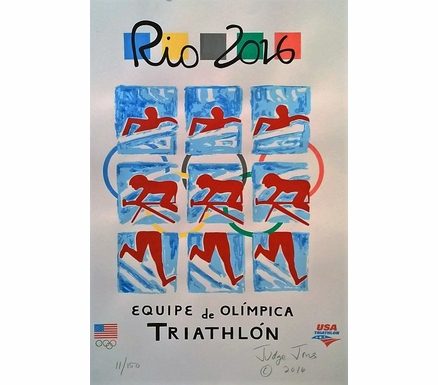 Rio 2016 Olympic Team Triathlon Poster | Personally Signed & Numbered