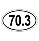 70.3 Half Distance Decal