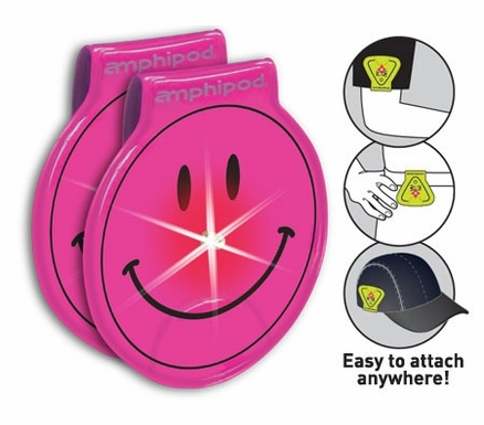 Amphipod Vizlet LED Flash Smiley Reflectors | 2-Pack