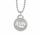 "ATHLETE INSPIRED ""RUN"" Pendent Necklace"