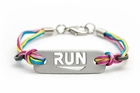 "ATHLETE INSPIRED ""RUN"" Plate Bracelet"