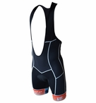 De Soto Men's 400 Mile Bib Short with 14mm Ceramico Pad