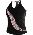 De Soto Women's Carrera Ruffle Tri Top