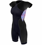 De Soto Women's Sleeved Riviera Trisuit with Float Pad