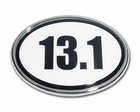 Elektroplate 13.1 Black & White Oval Car Chrome Emblem