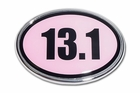 Elektroplate 13.1 Pink Oval Car Chrome Emblem