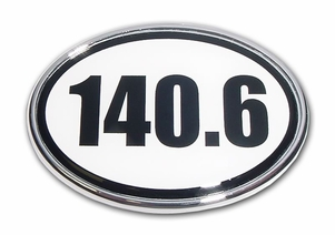 Elektroplate 140.6 Oval Ironman Distance Car Chrome Emblem