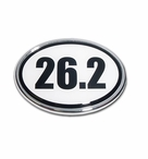 Elektroplate 26.2 Black & White Car Chrome Emblem