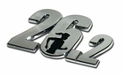 Elektroplate 26.2 Female Runner Car Chrome Emblem
