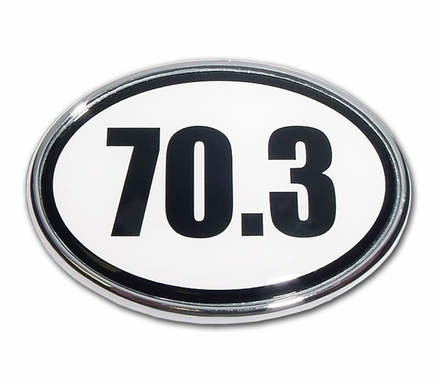 Elektroplate 70.3 1/2 Ironman Distance Oval Car Chrome Emblem