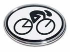 Elektroplate Cycle Oval Car Chrome Emblem