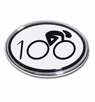Elektroplate Cycle with 100 Oval Car Chrome Emblem