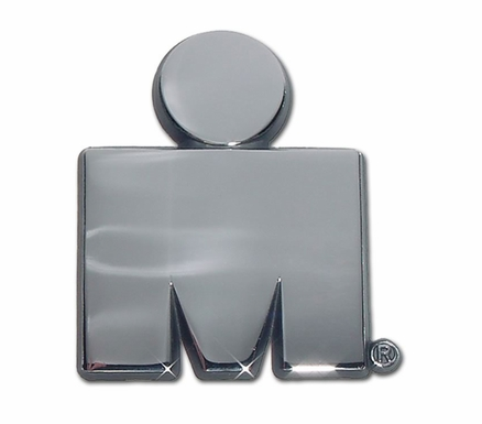 Elektroplate Ironman M-Dot Chrome Car Chrome Emblem
