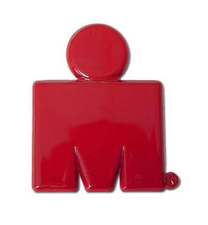 Elektroplate Ironman M-Dot Red Car Chrome Emblem