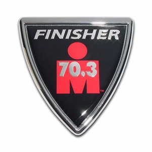 Elektroplate Ironshield 70.3 Distance Car Chrome Emblem