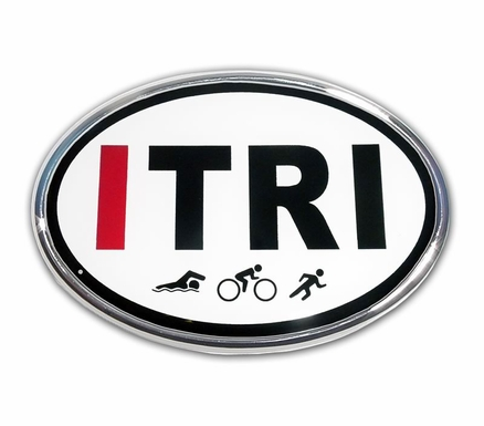 Elektroplate ITri Oval Car Chrome Emblem