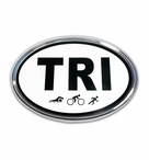 Elektroplate Tri-Oval Car Chrome Emblem