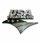Elektroplate USAT Triathlon Chrome Car Chrome Emblem