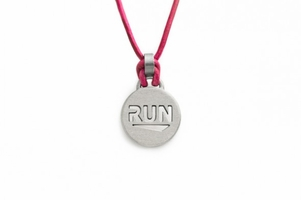 "ATHLETE INSPIRED  ""RUN"" Pendant Necklace"