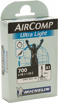 Michelin AirComp Ultralight Tube - 650 and 700 (40mm, 60mm valve)