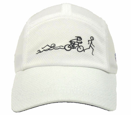 Swim Bike Run Race Hat