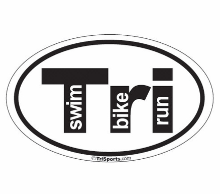 Tri Triathlon Decal