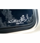Triathlon Stick Figure Decal
