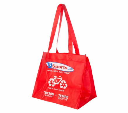 TriSports.com Reusable Red Bag