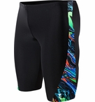 TYR Men's Oil Slick Legend Splice Jammer Swimsuit