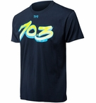 TYR Men's Stripe 70.3 Graphic Tee