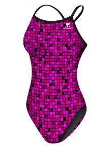 TYR Pink Check Diamondfit Suit