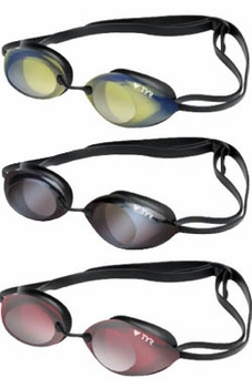 TYR Tracer Racing Metallized Swim Goggles