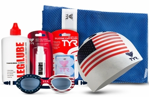 "TYR ""USA"" Swim Essentials Kit"