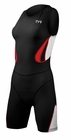 TYR Women's Carbon Zipper Back Short John With Pad