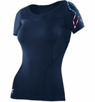USAT Stars n' Stripes Women's Compression Short Sleeve Top