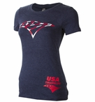 USAT Women's Short Sleeve Graphic Tee
