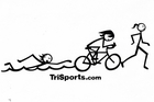Women's Triathlon Stick Figure Decal
