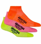 Wrightsock CoolMesh II LO Sport Sock | Neon 3 Pack